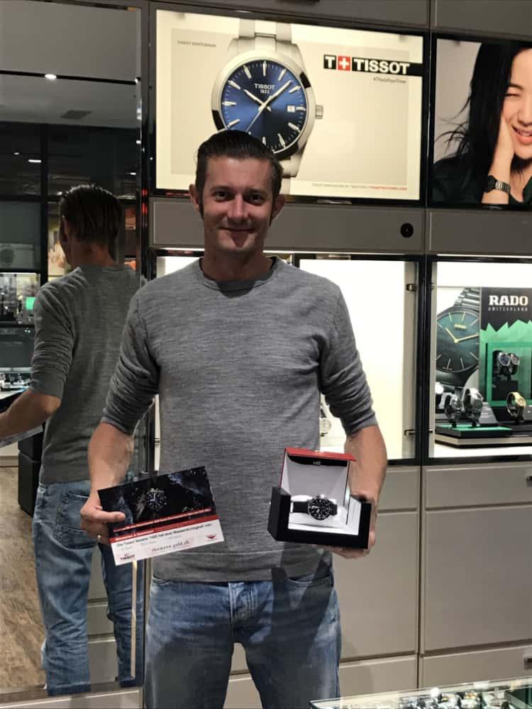 Gewinner der Tissot Seastar 1000 Quarz Chronograph